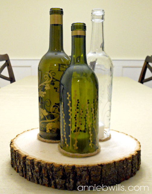 1.5 LTR. Recycled Wine Bottle Candle